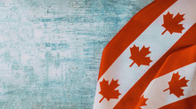 Canadian Flag With Word August Civic Holiday Long Weekend