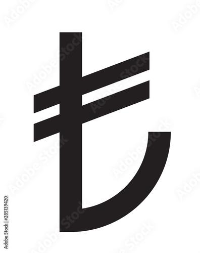 Photo  Lira turkish symbol sign