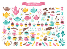 Tea Time Objects Isolated