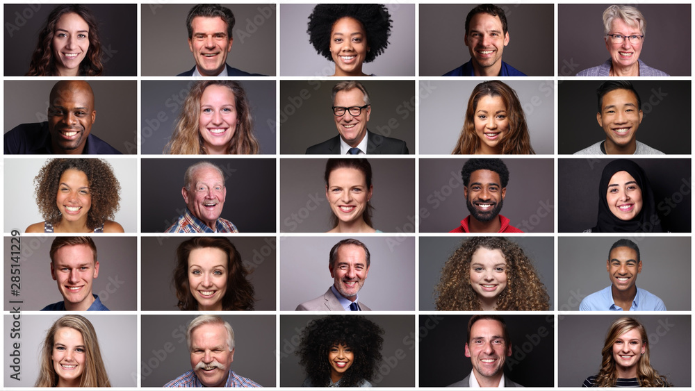 Fototapeta Beautiful multicultural ethnicities from different people around the world