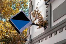 Empty Triangle Signboard Hangi...