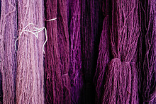 Close Up Of Different Shades Of Purple Wool