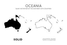 Oceania Map. Blank Vector Map ...