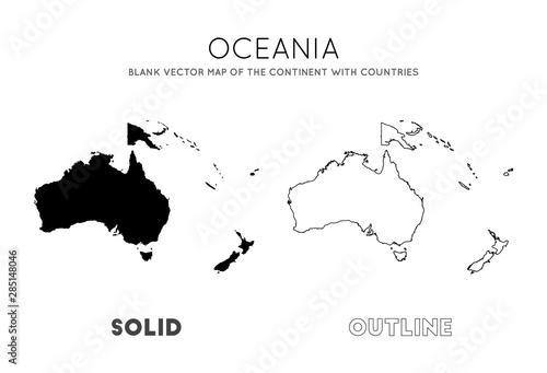 Obraz na plátně Oceania map