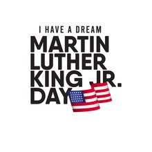 Martin Luther King JR. Day Vector Template Design Illustration