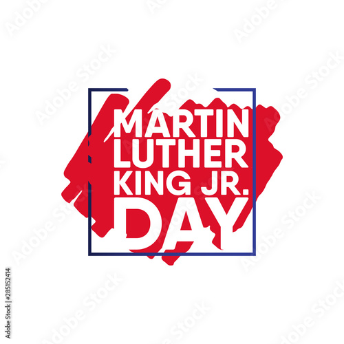 Photo  Martin Luther King JR. Day Vector Template Design Illustration
