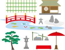 日本庭園の設備素材