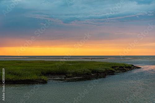 August Sunset Canvas Print