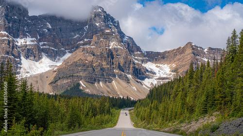 Beautiful Road in Canada with big mountain