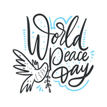 World Peace Day Hand Drawn Vec...