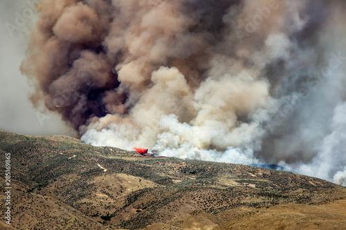 Wildfire in foothills near Boise Idaho #285169865