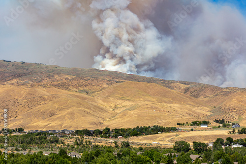 Wildfire in foothills near Boise Idaho #285169888