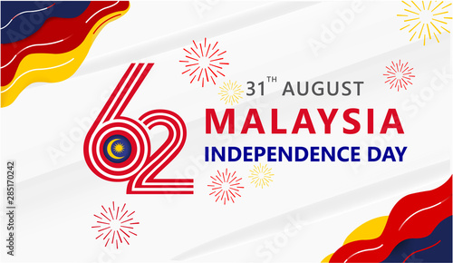 Fotomural  Anniversary Logo of The Federation of Malaysia Country, happy independence day M
