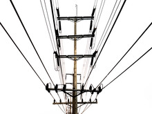 Electricity Pole, Black And Wh...