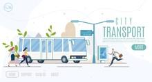City Public Transport Service Vector Website