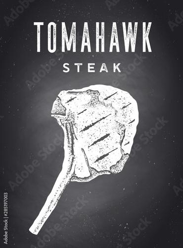 stek-tablica-plakat-kuchenny-z-sylwetka-steku