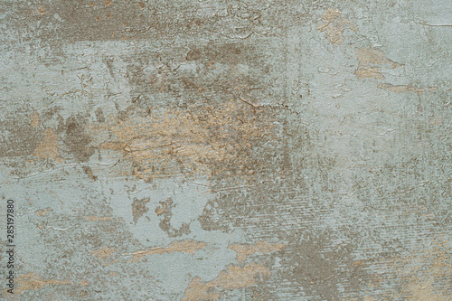 Wall Murals Old dirty textured wall Old blue concrete background with cracks