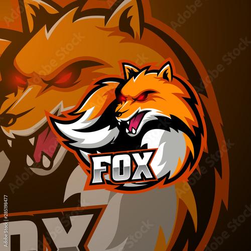 Angry fox mascot logo design #285198477