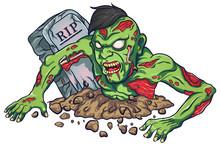 Cartoon Mascot Zombie Terrible...