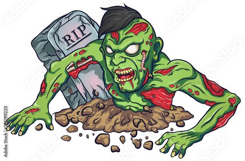 Cartoon mascot zombie terrible design #285199220