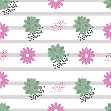Vector Floral Succulents And F...