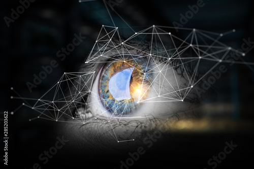 Fotomural  Abstract high tech eye concept