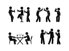 People Drink Spirits Drinks Ic...