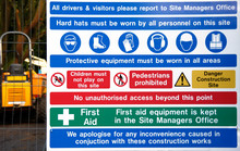 Building Site Safety Information Sign