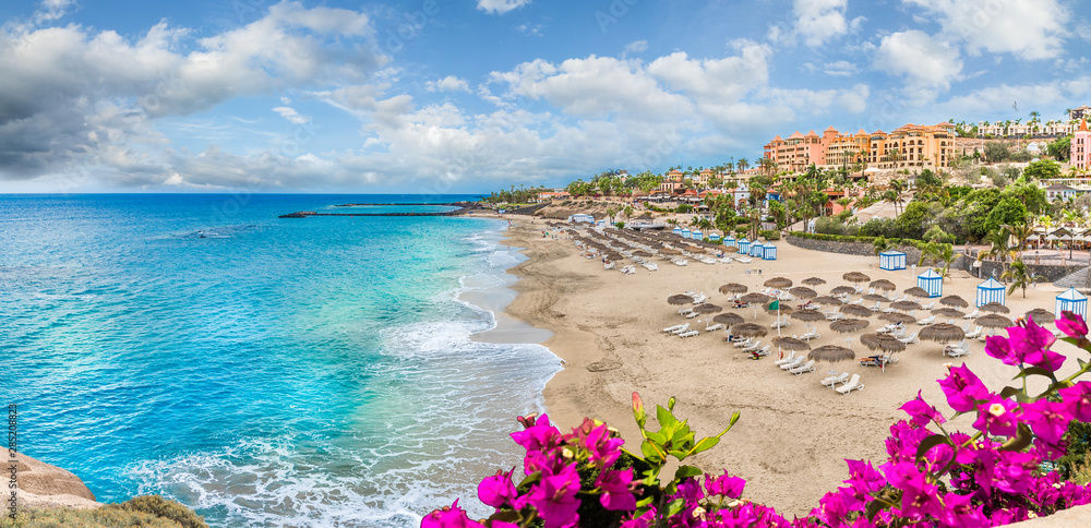 Fototapety, obrazy: Landscape with El Duque beach at Costa Adeje. Tenerife, Canary Islands, Spain