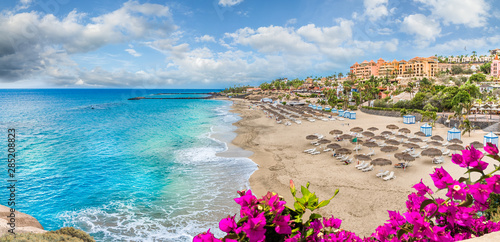 Landscape with El Duque beach at Costa Adeje Fototapeta
