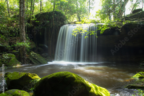 Cadres-photo bureau Cascades waterfall in forest