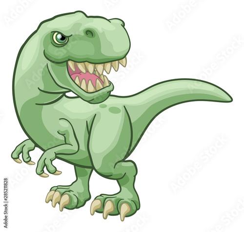 Obraz na plátně A T Rex Tyrannosaurus dinosaur cartoon character