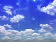 Leinwandbild Motiv On the blue sky with could