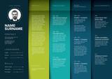 Minimalist teal resume cv template - 285217874