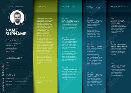 Minimalist teal resume cv template
