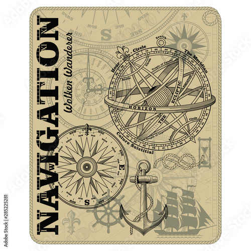 Photo Navigation maritime vector design