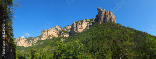 Cuadros en Lienzo Panoramic view of the famous Gorges du Tarn, canyon dug by the Tarn between Caus