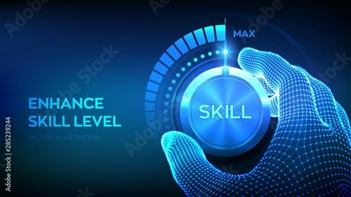 Cuadros en Lienzo  Skill levels knob button
