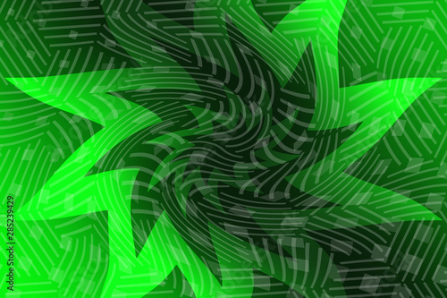 Spoed Fotobehang Tropische Bladeren abstract, design, green, blue, pattern, technology, light, wallpaper, line, wave, backdrop, space, motion, texture, grid, art, fractal, illustration, black, web, lines, template, waves, dark, dynamic