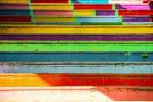 Rainbow Colored Urban Staircas...