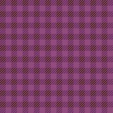 タータンチェックのシームレスパターン 紫 ハロウィンイメージ