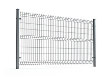 Fence Panel Isolated On White, Rod Type, 3D Illustration