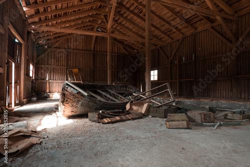 Spoed Fotobehang Oude verlaten gebouwen Abandoned buildings and premises in Russia