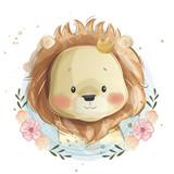 Fototapeta Fototapety na ścianę do pokoju dziecięcego - Cute Lion Portrait