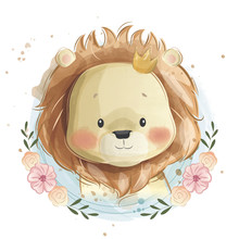 Cute Lion Portrait