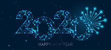 Happy New Year 2020 Banner Des...