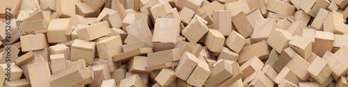 Fotografía Viele Verpackungen und Kartons als Lieferung Konzept