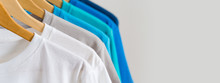 Close Up Of Colorful T-shirts ...