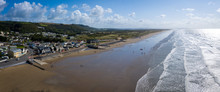 Pendine Sands A 7 Mile Length Of Beach On The Shores Of Carmarthen Bay Wales UK Europe