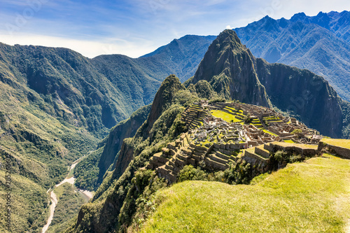 Photo Machu Picchu, a UNESCO World Heritage 15th-century Historic Site, Located in Cus